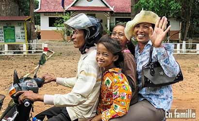 Aventure et rencontres en famille au Cambodge
