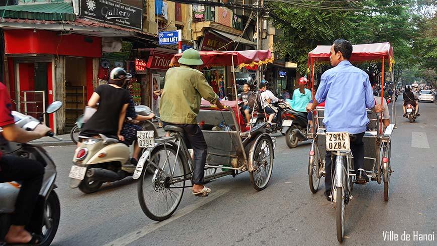 Cyclo pousse Hanoi