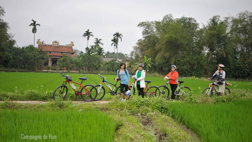 Tour de vélo – Campagne de Hue