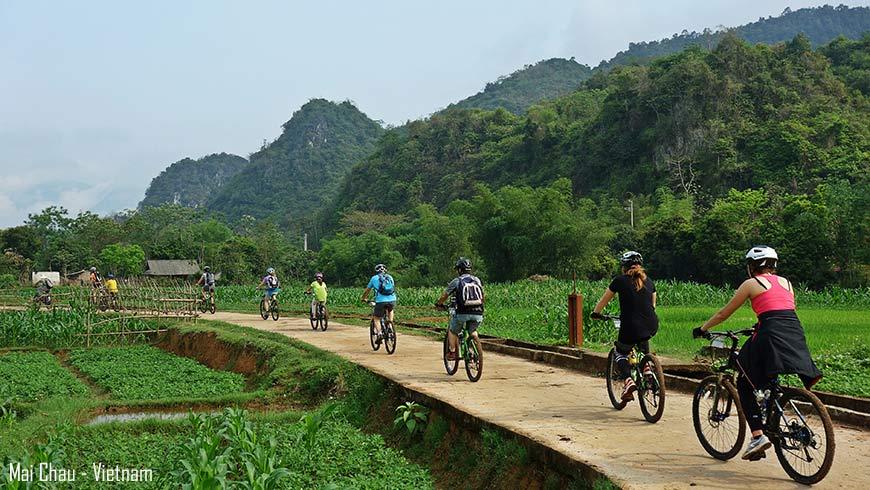 Balade en vélo – Vallée de Mai Chau