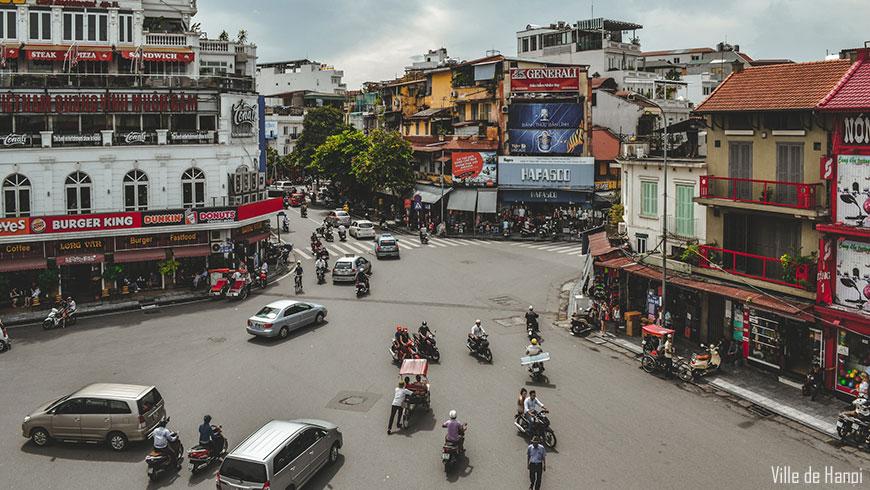 Centre ville d'Hanoi