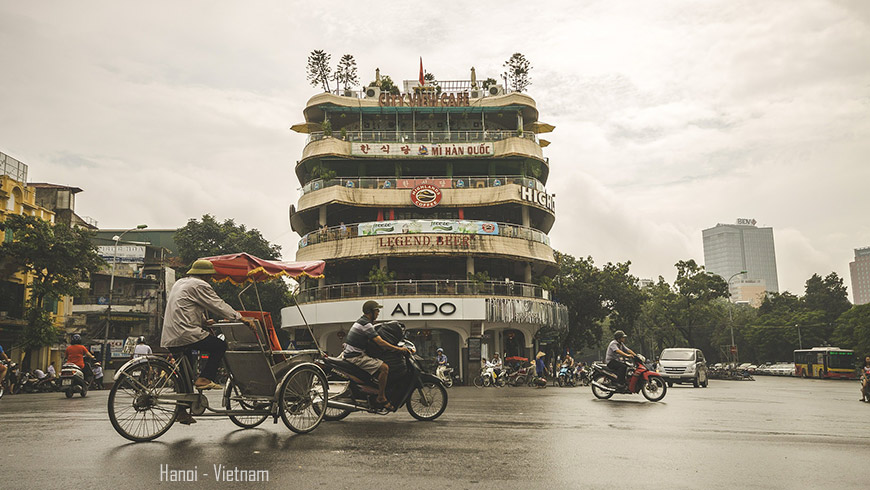 Le centre ville de Hanoi