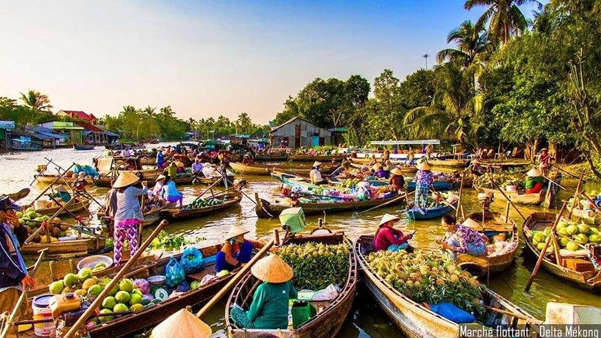 Marché flottant – Delta du Mékong
