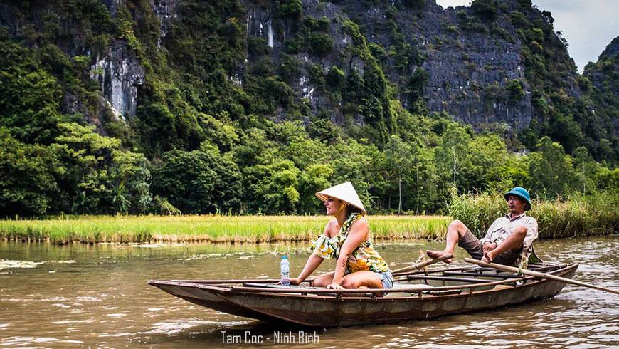 Bateau à rame à pied – Tam Coc